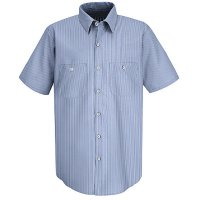 Classic Striped Auto Work Shirt SL20WB