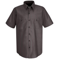 Red Kap Striped Short Sleeved Work Shirt - SP24
