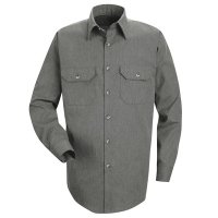 Heathered Poplin Uniform Shirt - SH10