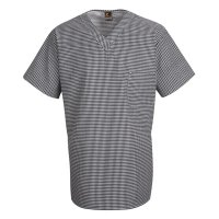 Checked V-Neck Chef Shirt - SP08