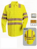 Hi-Visibility Work Shirt - Class 3 Level 2 - SS14AB