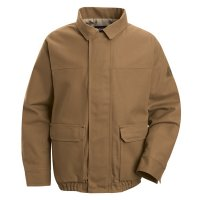 Brown Duck Lined Bomber Jacket - EXCEL FR™ ComforTouch™ - JLB8