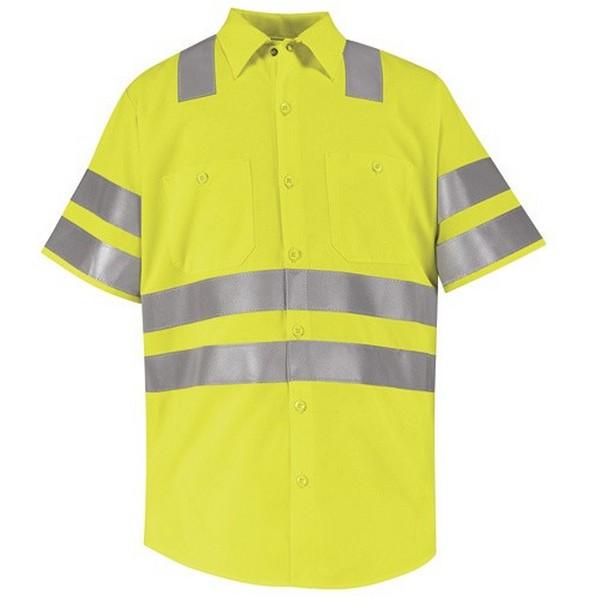 Discount Red Kap Hi Visibility Work Shirt Class 3 Level
