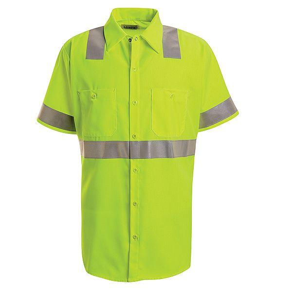 Discount Red Kap Hi Visibility Work Shirt Class 2 Level
