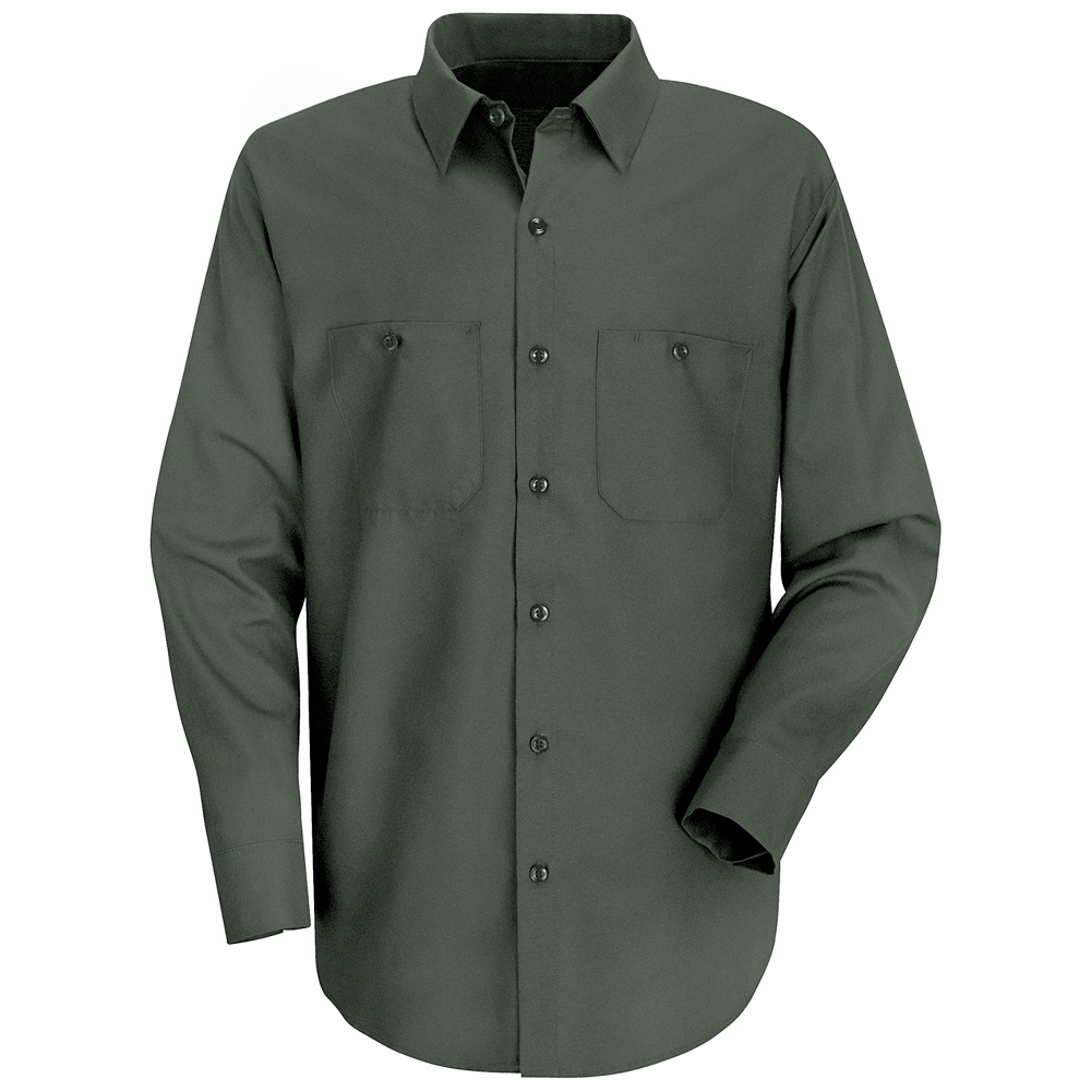 Wrinkle resistant long sleeved cotton work shirt sc30 for White cotton work shirts