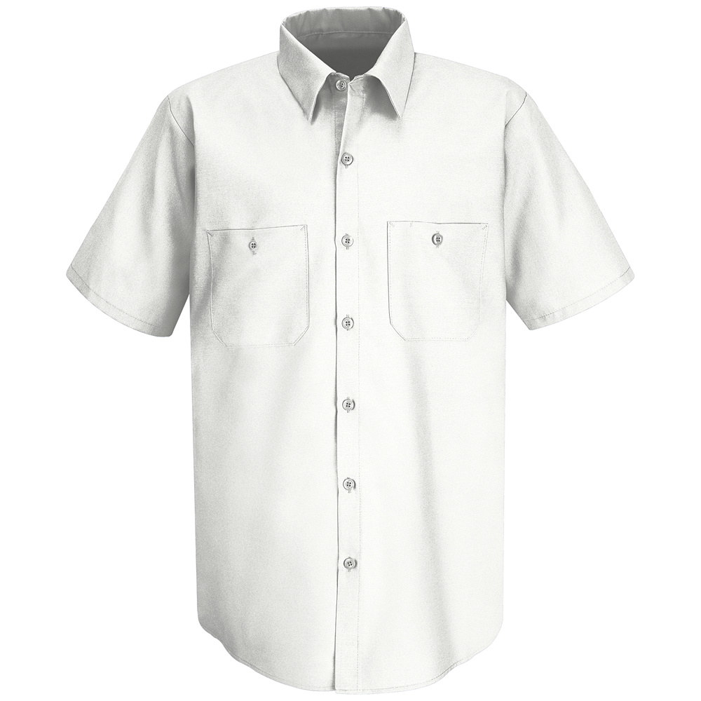 Wrinkle resistant short sleeved cotton work shirt sc40 for White cotton work shirts