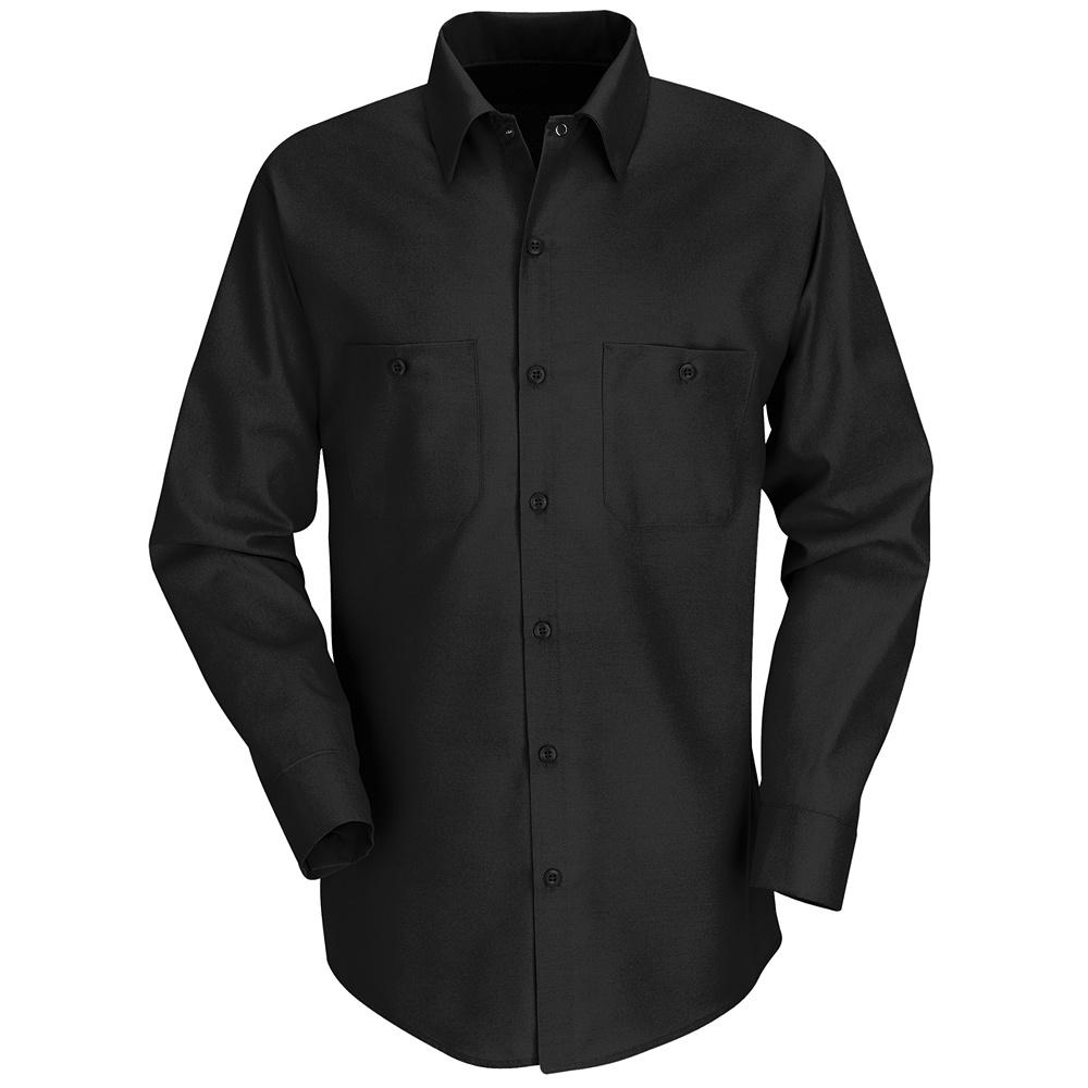 Red kap best selling solid color long sleeve work shirt for Black long sleeve work shirt