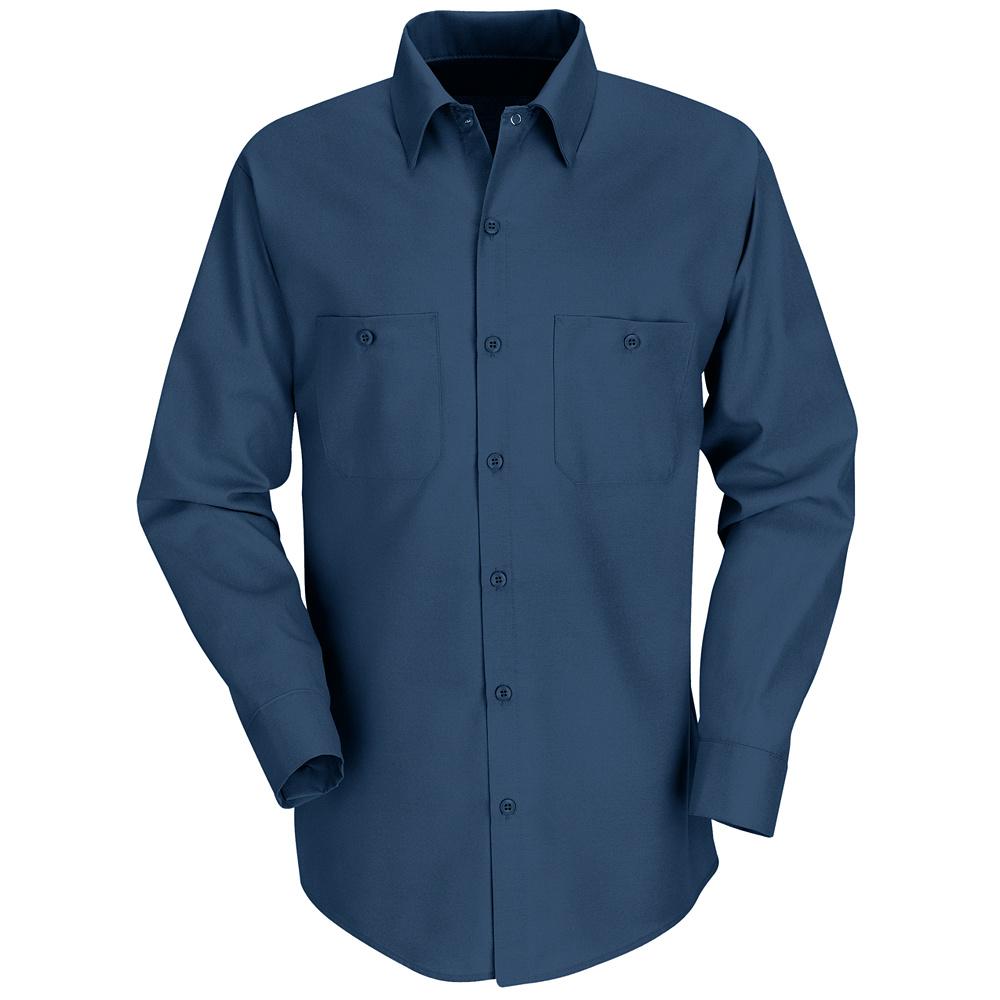 Red kap best selling solid color long sleeve work shirt for Light blue work shirt