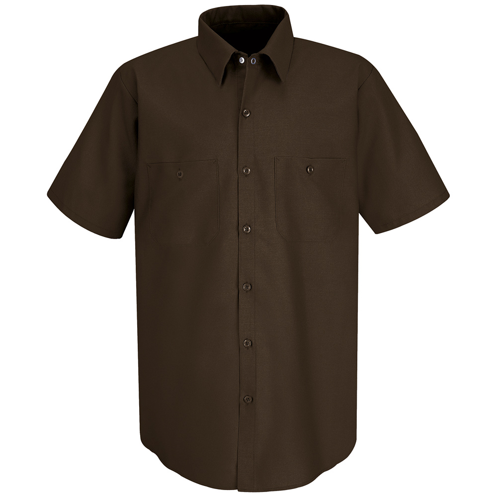 Red kap men 39 s short sleeve uniform work shirt sp24 for Uniform shirts for men