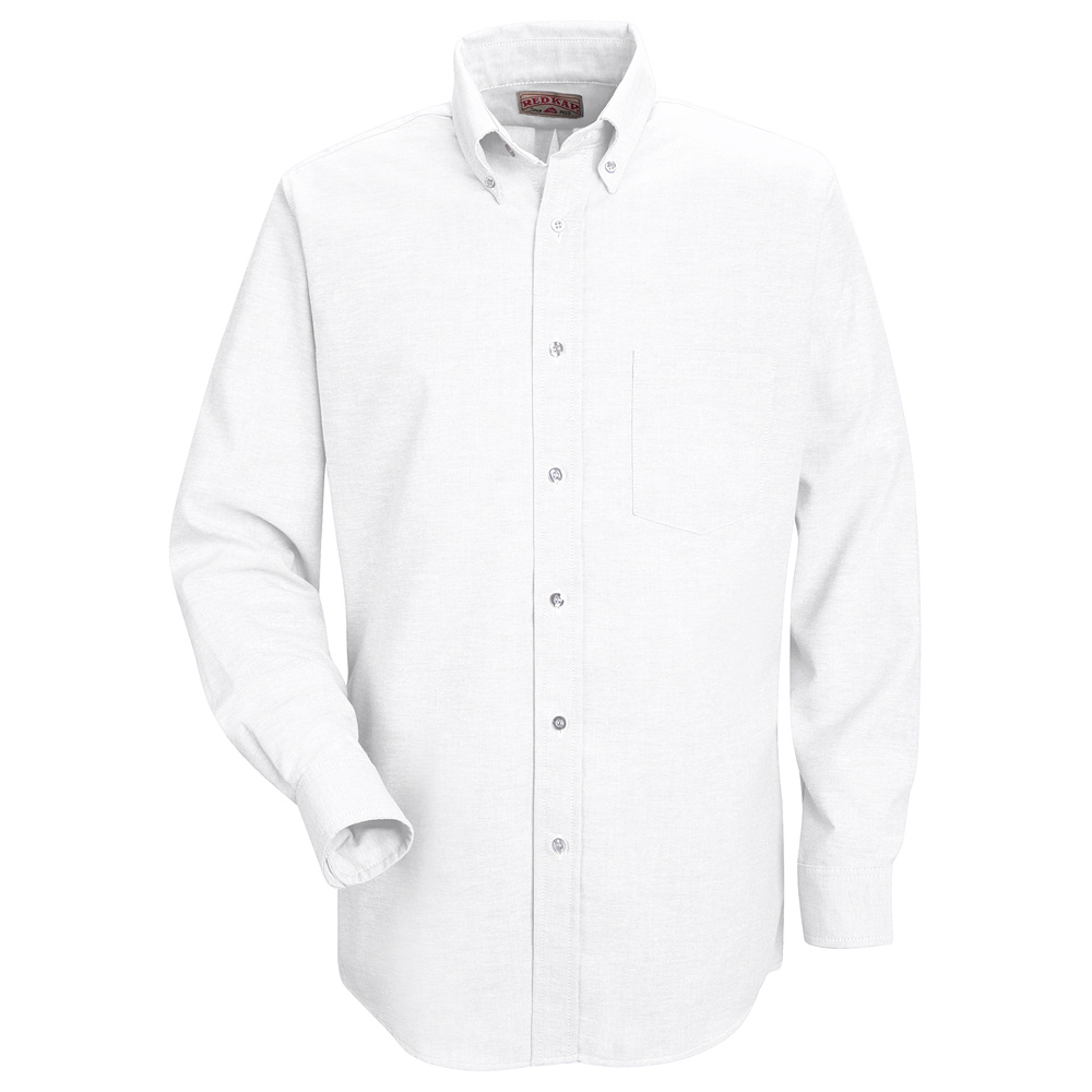 Executive oxford dress shirt sr70 red kap executive for White non iron dress shirts