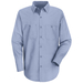 Wrinkle-Resistant Long Sleeved Cotton Work Shirt - SC30