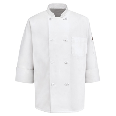 Eight Knot-Button Chef Coat - 0414