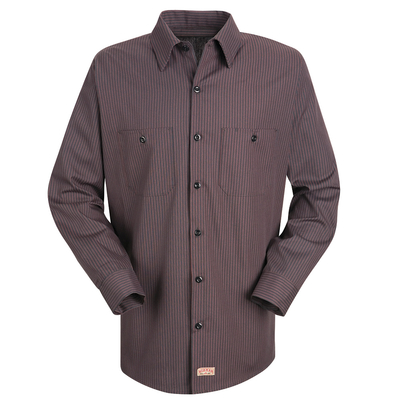Industrial Striped Long Sleeved Work Shirt - SP14