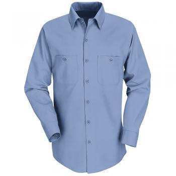 Charcoal Red Kap Men/'s Long Sleeve Heathered Uniform Work Shirt